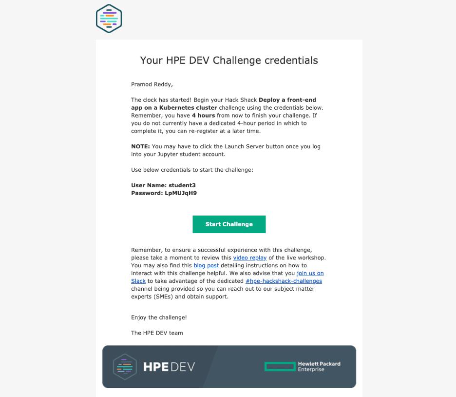 credentials email